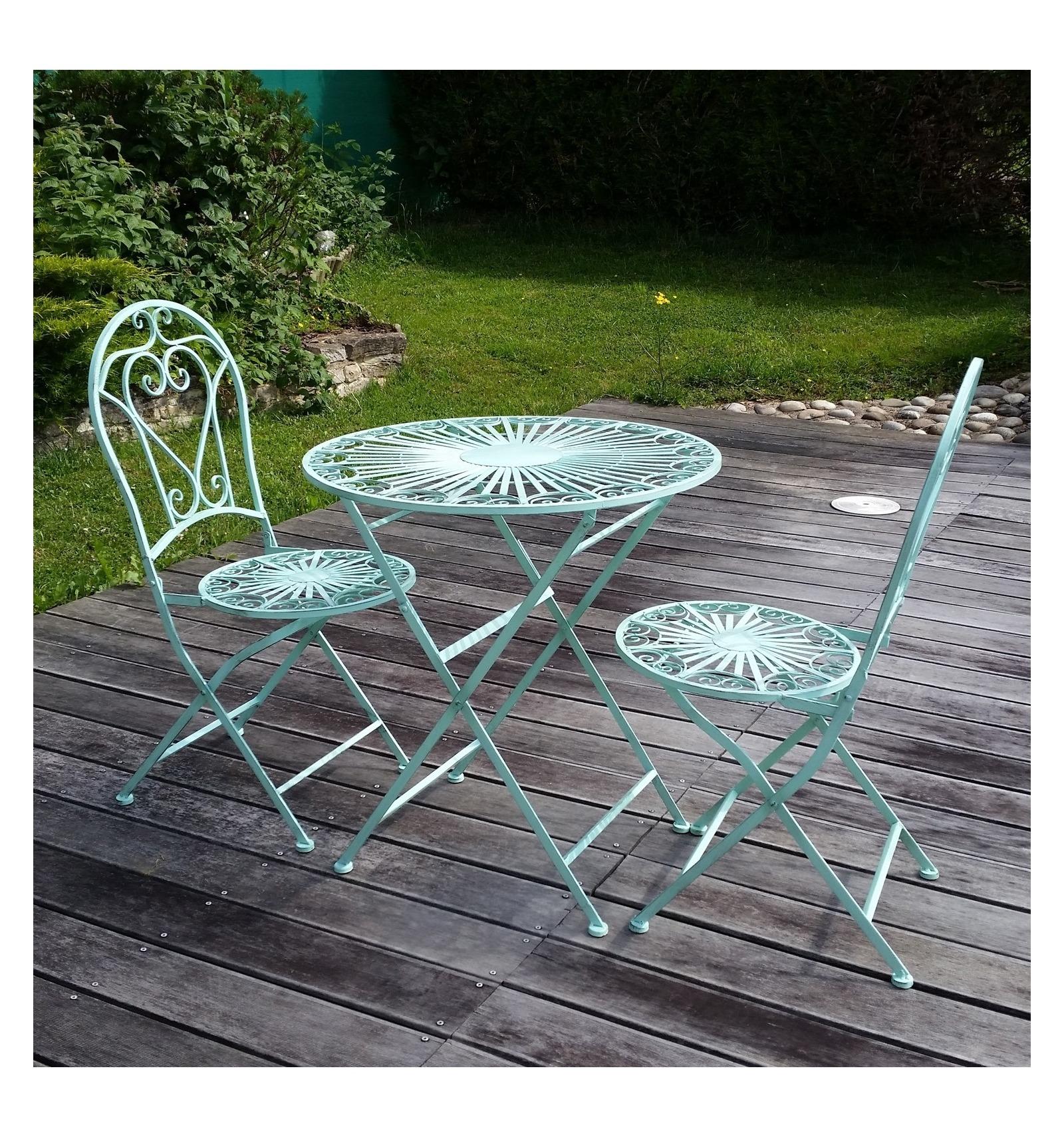 Mobili da giardino in ferro battuto 2 sedie for Mobili da giardino in ferro antichi