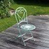 Trädgårdsmöbler i smidesjärn - 2 stolar