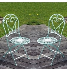 Wrought iron chair - The pair