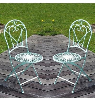 Schmiedeeisenstuhl - Das Paar - Gartenmöbel aus Schmiedeeisen