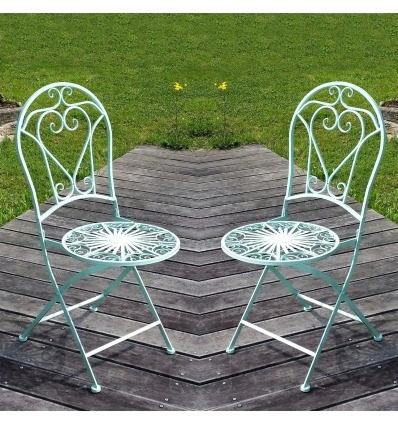 Wrought iron chair - The pair - Wrought iron garden furniture