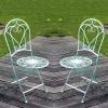 Sedia in ferro battuto - coppia - mobili da giardino in ferro battuto