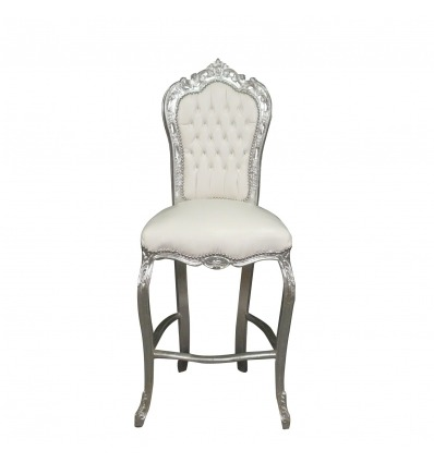 Bianco barocco bar sedia stile Louis XV