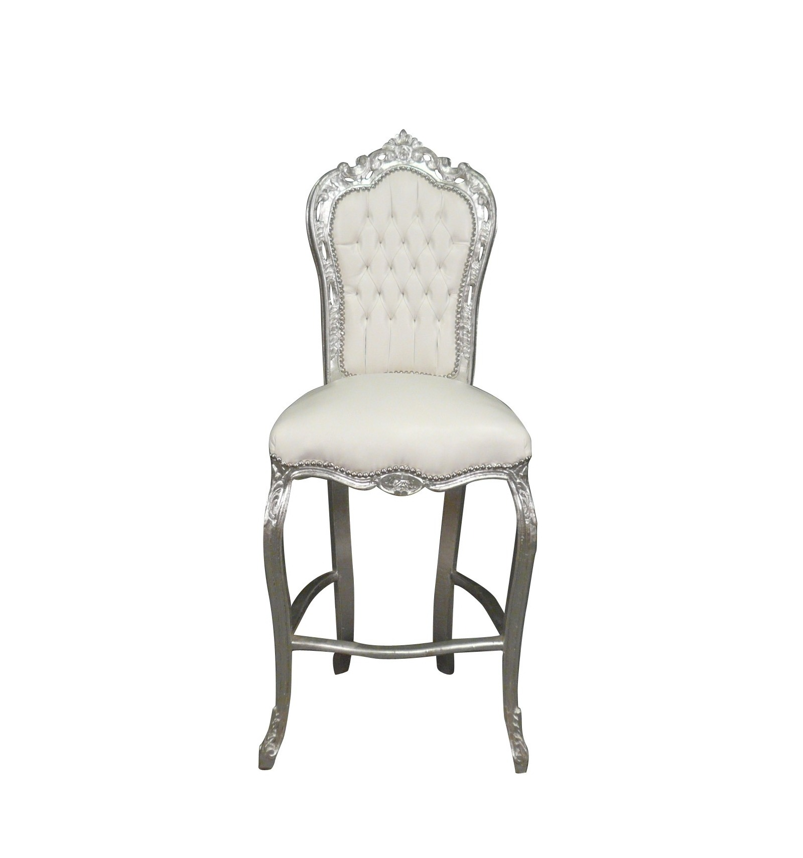 Chaise baroque de bar blanche meuble baroque for Chaise blanches