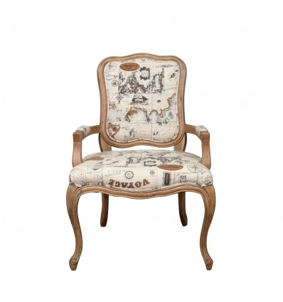 Louis XV Sessel in Eiche - Louis XVI Sessel -