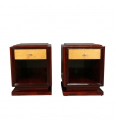 Art Deco bedside table - The pair