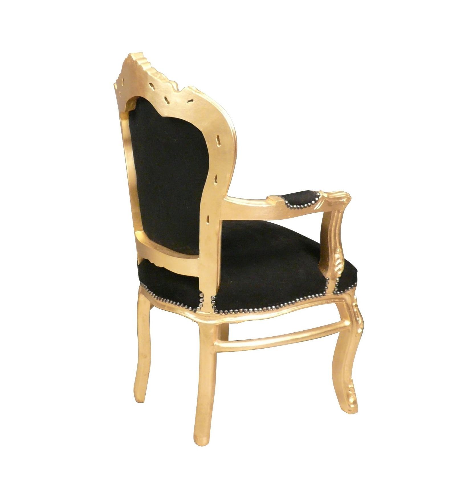 fauteuil baroque noir et dor vente de meubles baroques. Black Bedroom Furniture Sets. Home Design Ideas