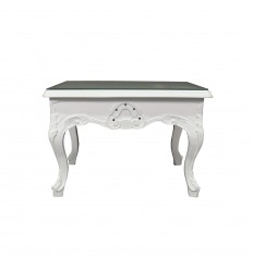 Table baroque basse blanche