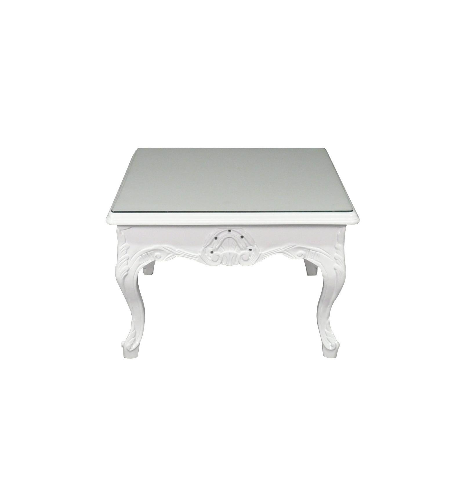 table baroque basse blanche meuble baroque. Black Bedroom Furniture Sets. Home Design Ideas