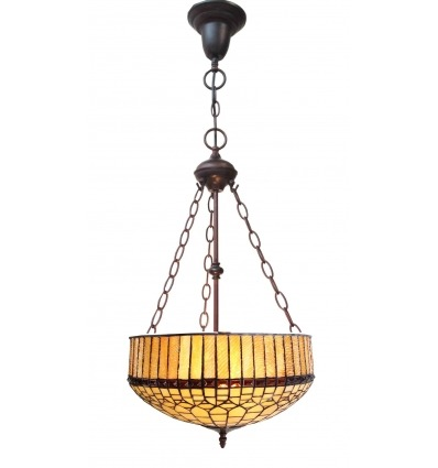 Lustre Tiffany série Londres - Lampe Tiffany - Luminaire Tiffany -
