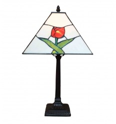 Lampe Tiffany Mission la rose