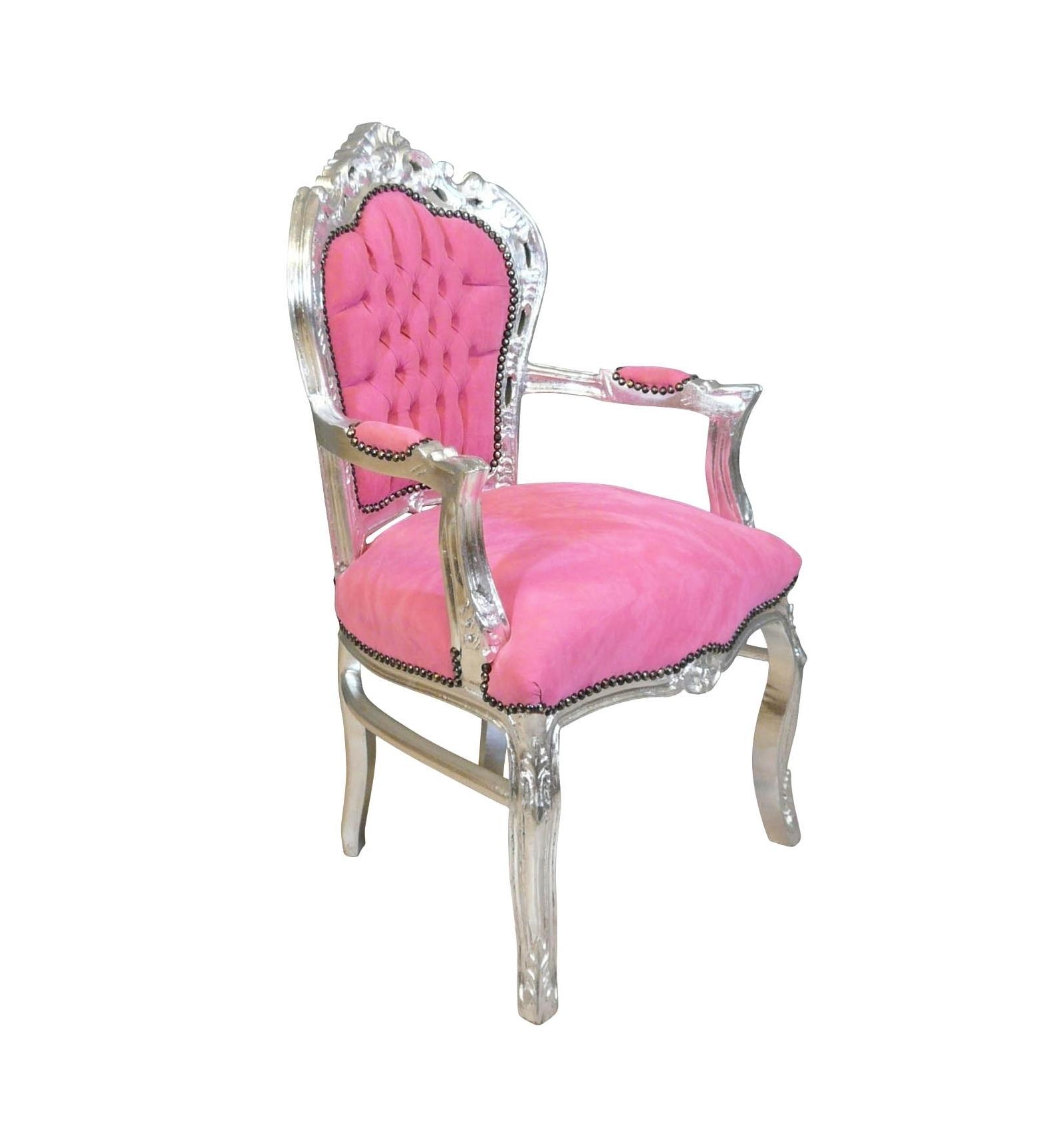 fauteuil rose style baroque - Fauteuil Rose Pas Cher