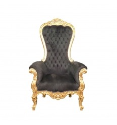 Black baroque armchair model throne