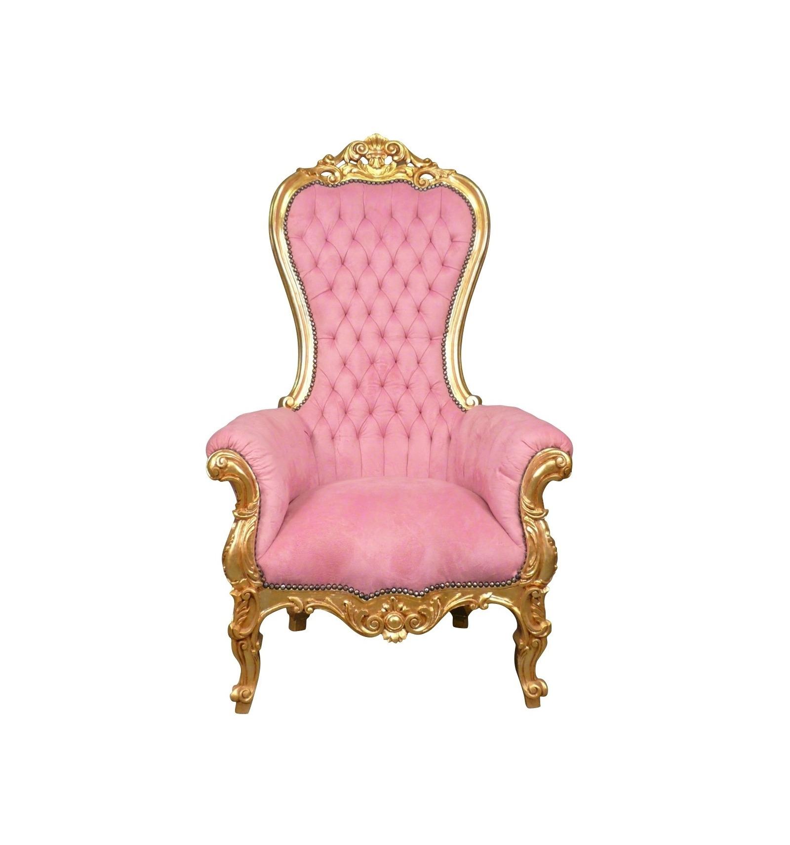 Silln barroco de madera trono sclupt