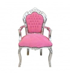 Barocksessel pink und silber