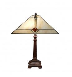 Lampe Tiffany de style Mission - H: 49 cm