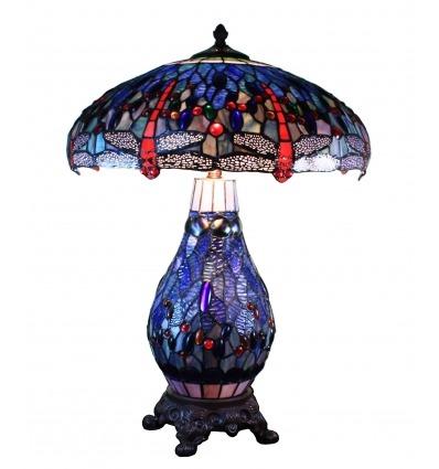 Lámpara de libélula Tiffany