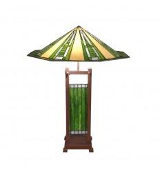 Lámpara Tiffany estilo art deco.