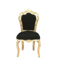 Baroque black and gold chair