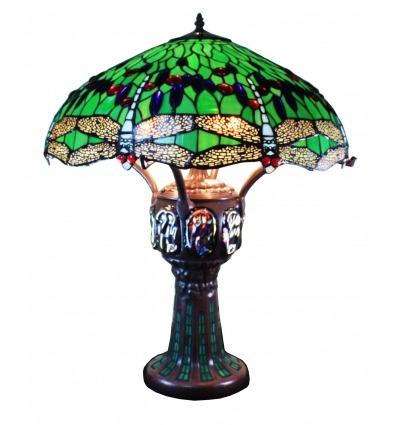 Lampada Tiffany verde - Lampade abat-jour liberty