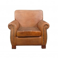 Club chair genuine leather - Vintage - Art-deco -