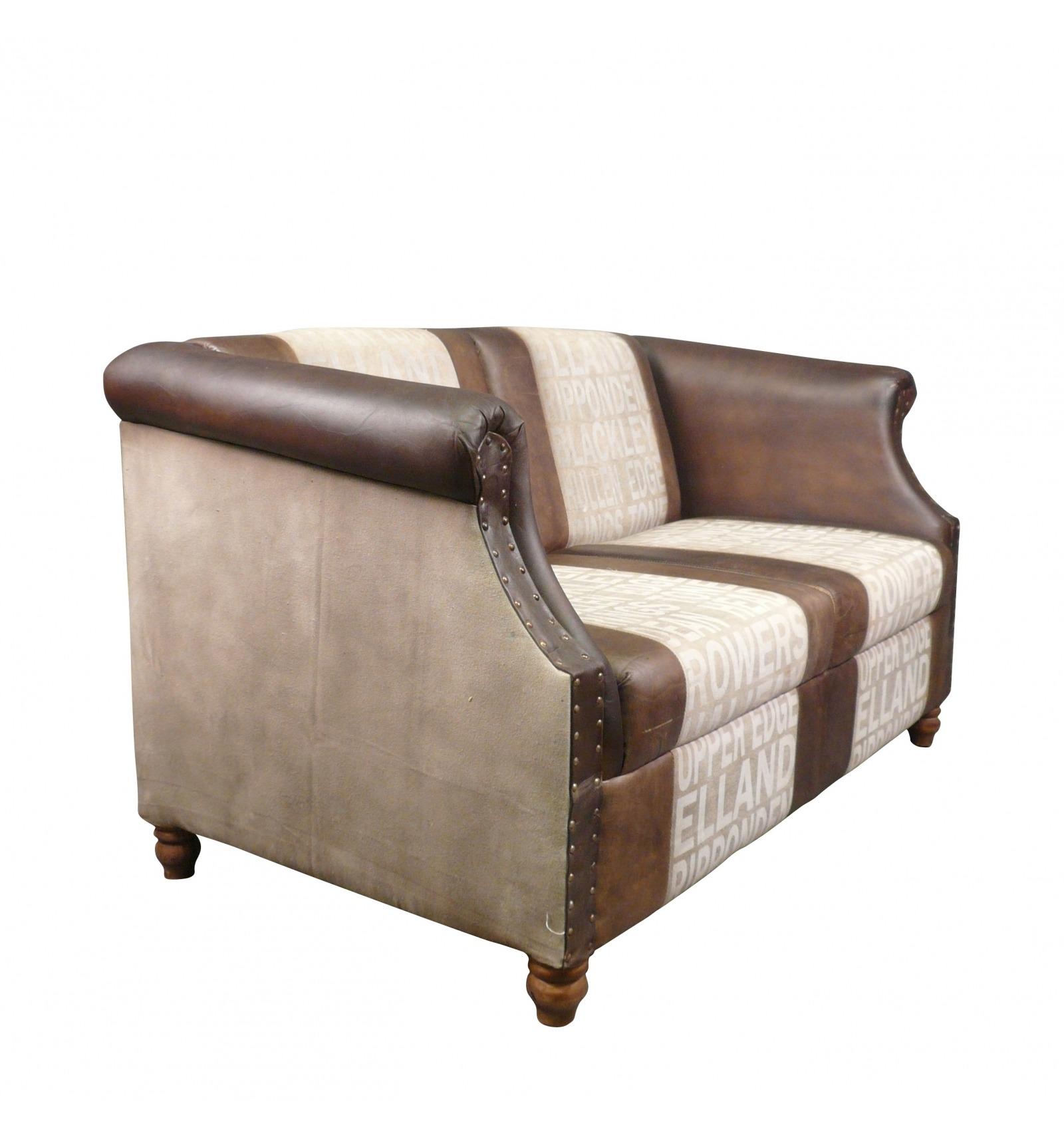 canap club vintage en cuir et tissu art d co. Black Bedroom Furniture Sets. Home Design Ideas