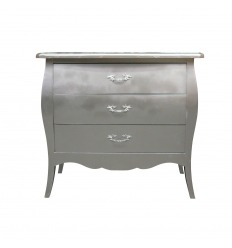 Commode Louis XV baroque - argent