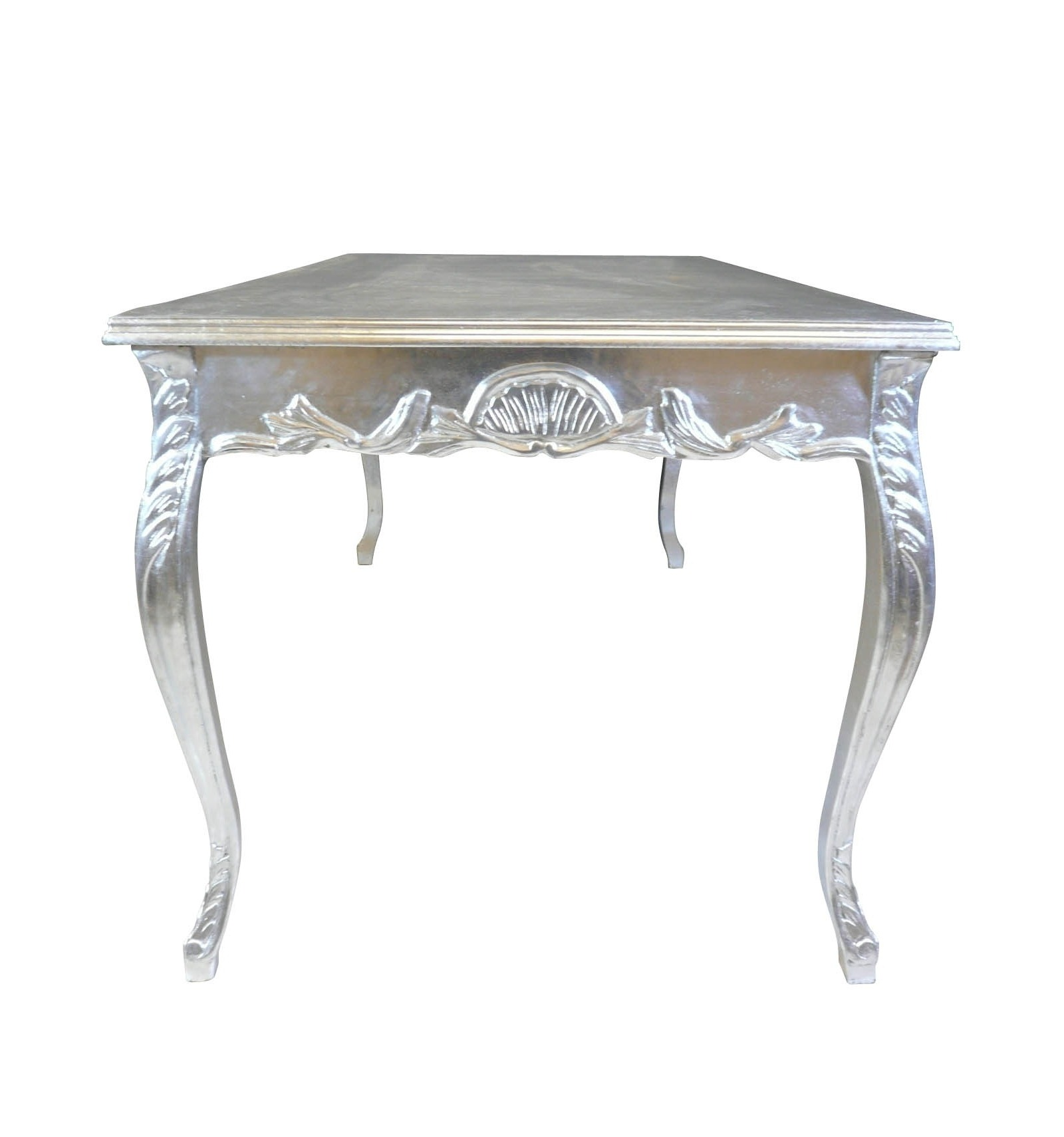 Silver baroque dining room table style furniture - Table baroque conforama ...