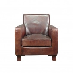 Fauteuil club cuir véritable - Vintage - Art déco