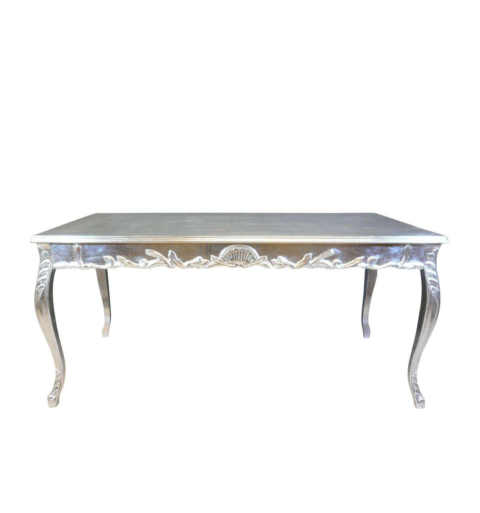 table baroque argent e de salle manger mobilier de style. Black Bedroom Furniture Sets. Home Design Ideas