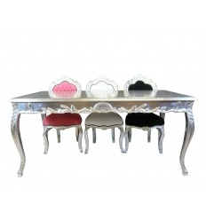 Table baroque argentée