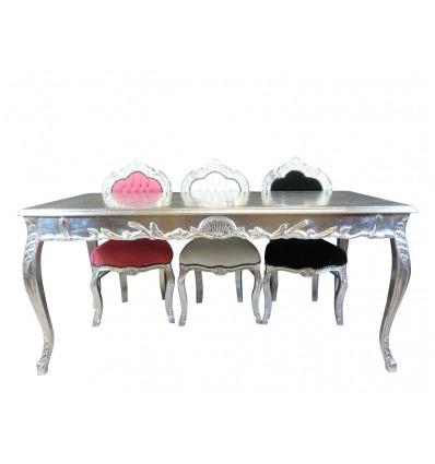 Mesa comedor barroco plata - Muebles de estilo