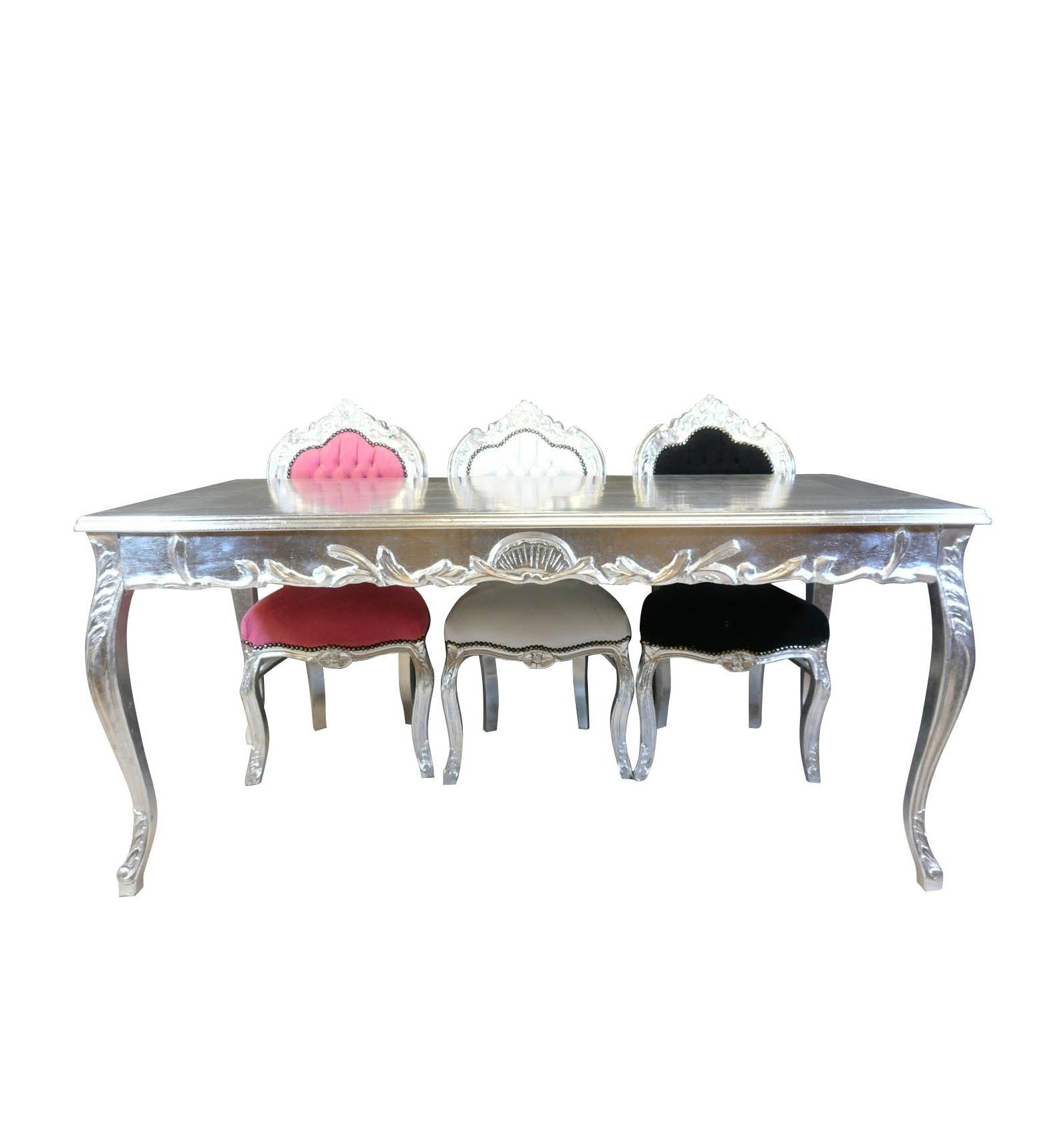 Rehausser Une Table De Salle A Manger table baroque argentée