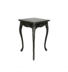 Table haute de style baroque noire