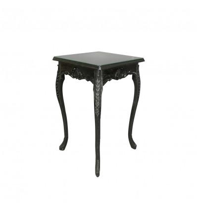 Black baroque high bar table
