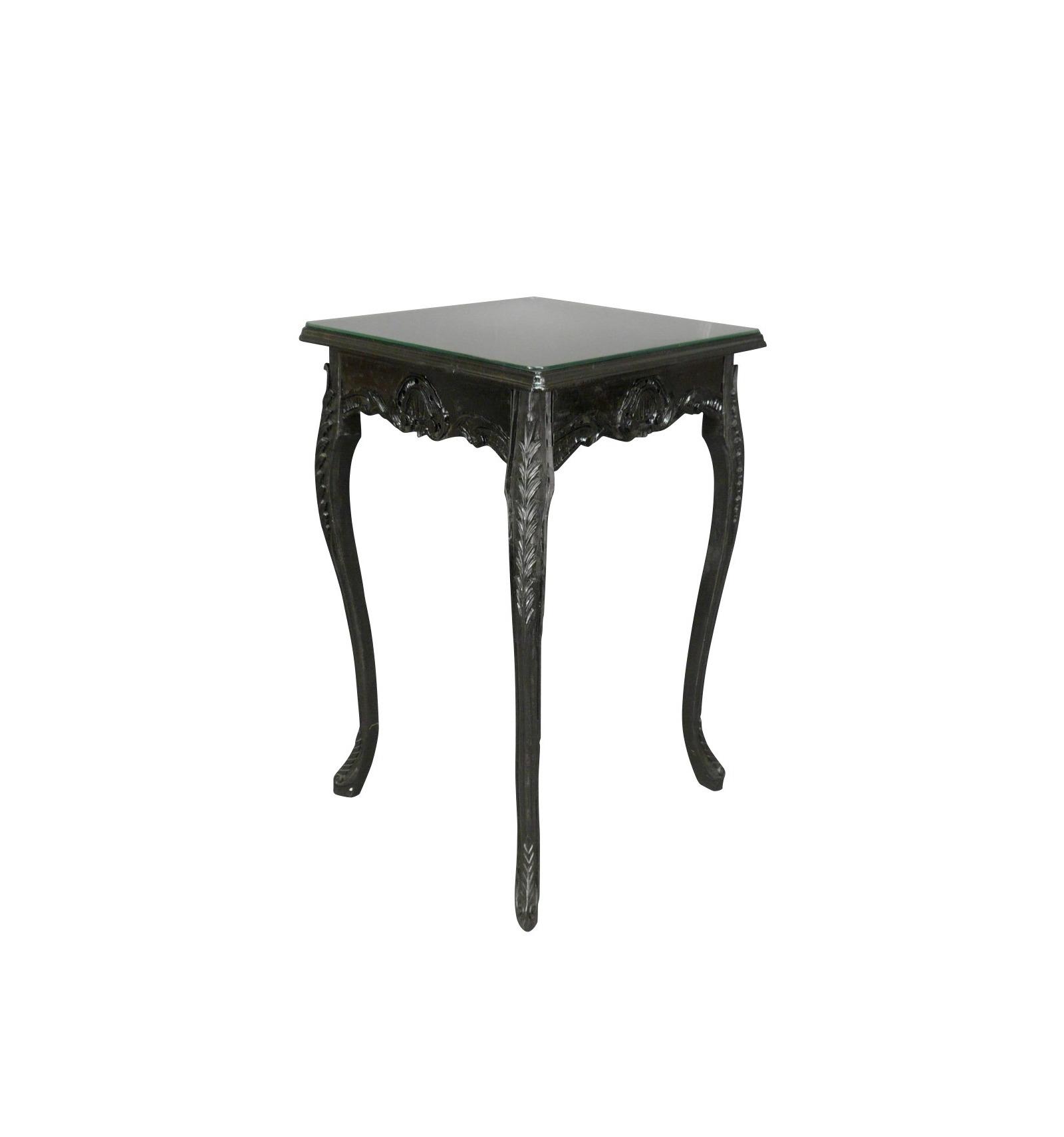 Table haute de style baroque noire de bar for Table haute type bar