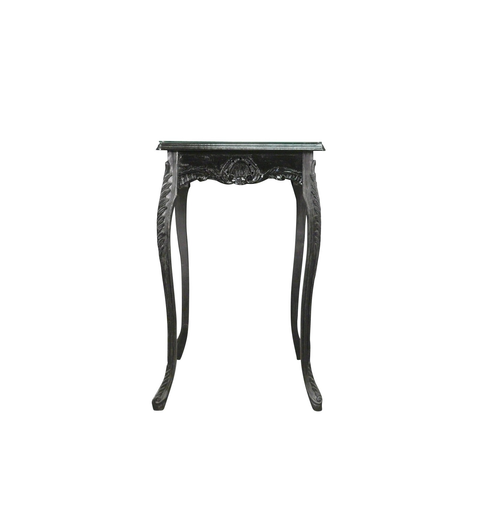high table in the baroque style black bar