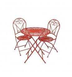 Gartenmöbel aus Schmiedeeisen - 2 Stühle