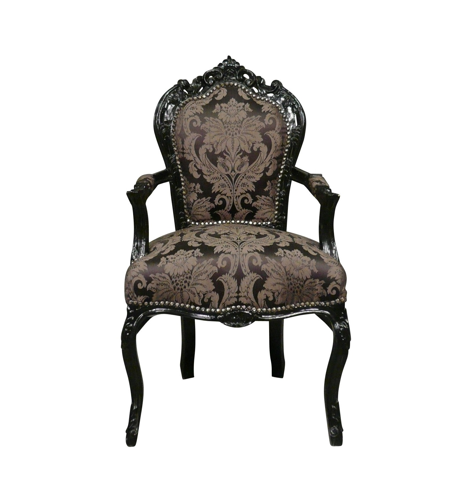 fauteuil baroque noir. Black Bedroom Furniture Sets. Home Design Ideas