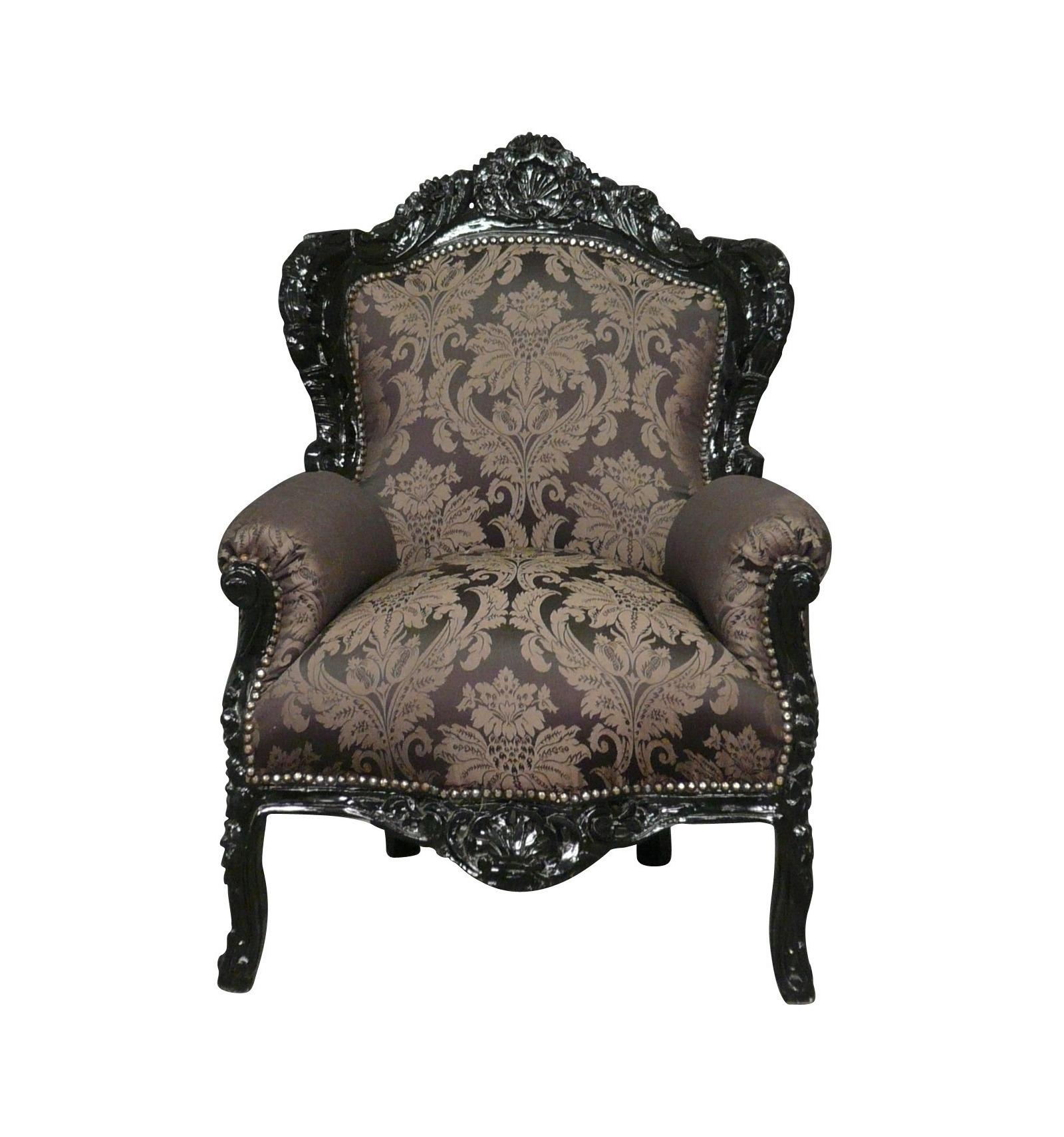 Fauteuil baroque royal noir et argent meuble baroque pas - Meuble baroque pas cher belgique ...