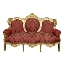 Baroque red and gold sofa
