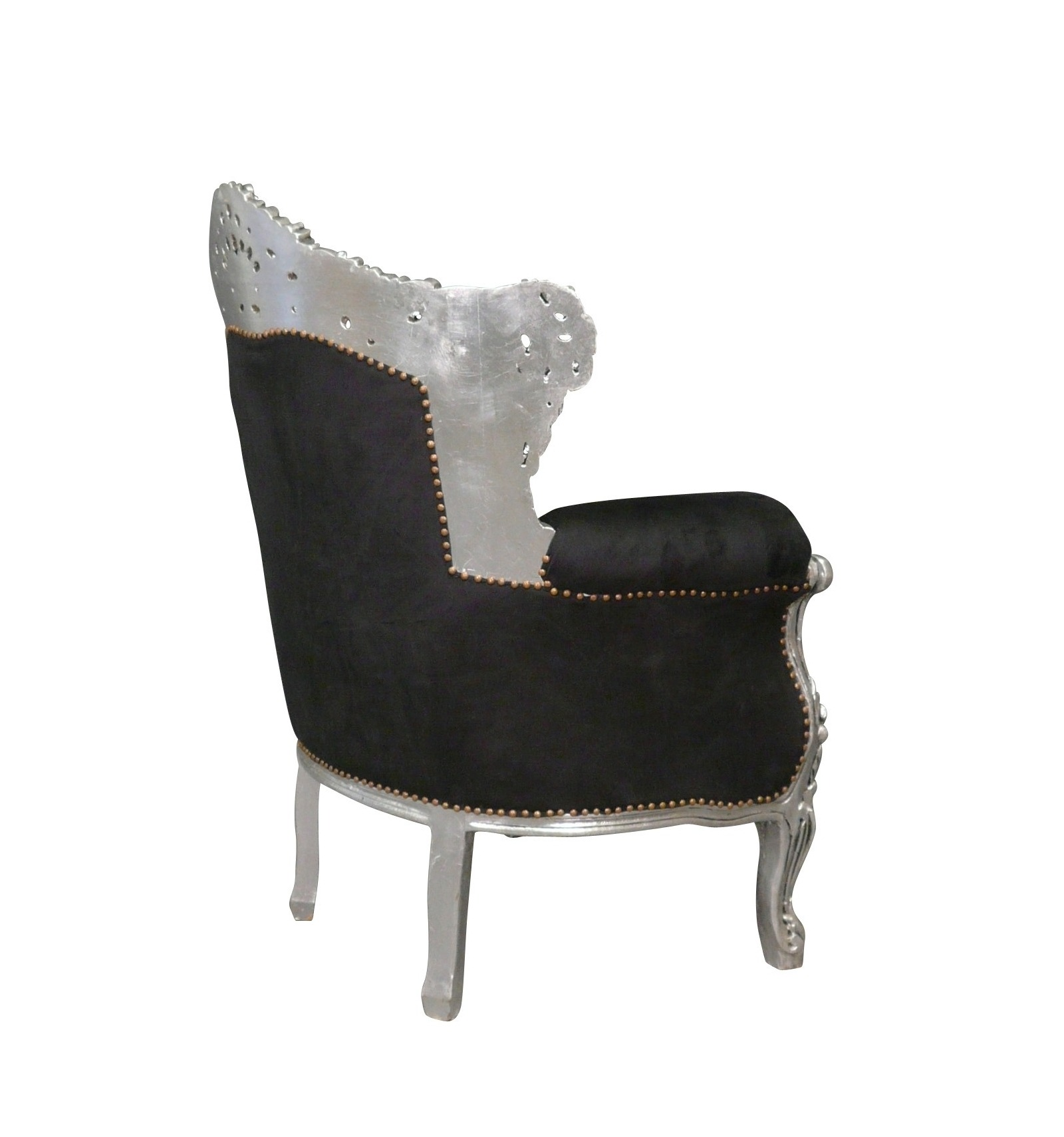 barock sessel st hle schwarz. Black Bedroom Furniture Sets. Home Design Ideas