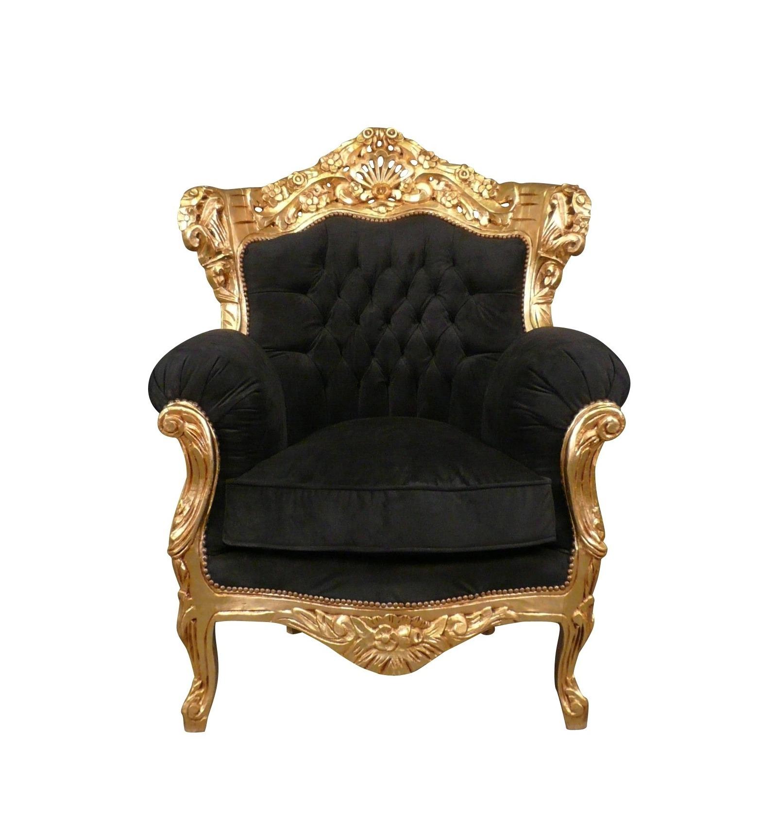 Poltrona barocco sedie nero for Poltrone barocche