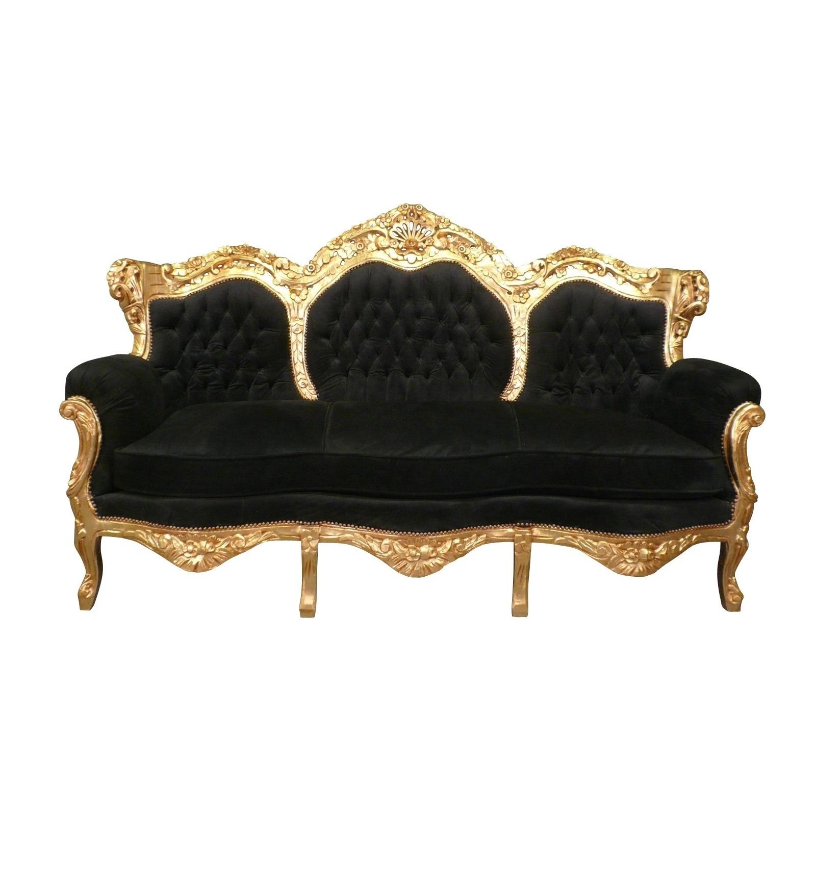 Canap baroque noir et dor meuble baroque - Meuble baroque noir ...