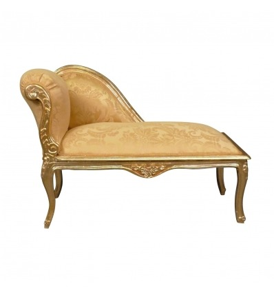 Goldene Louis XV-Chaiselongue