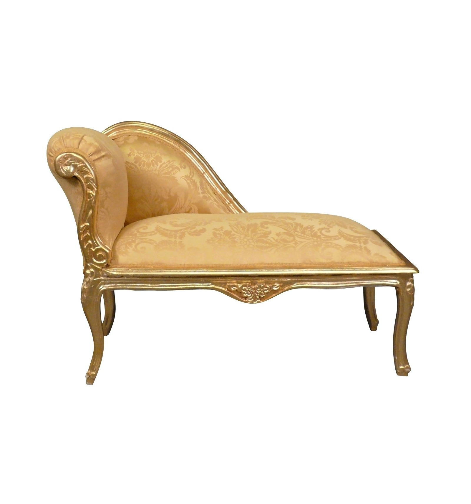 Chaise louis xv for Black and silver chaise longue