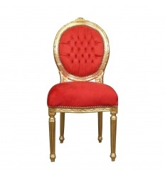 Louis XVI roter Stuhl