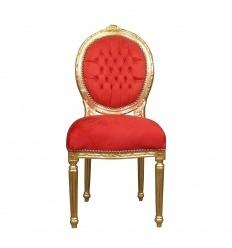 Silla roja Luis XVI