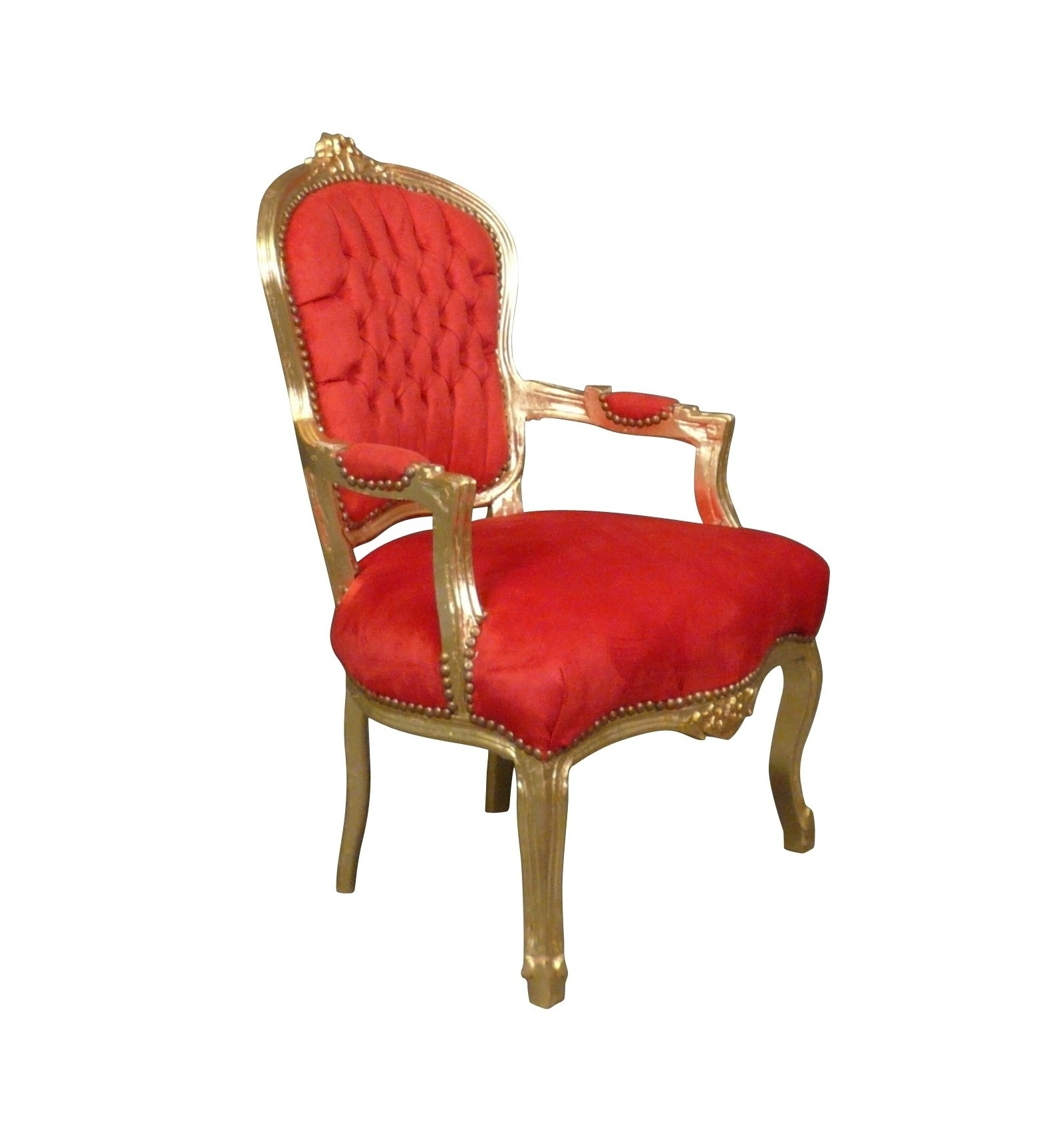 ... Louis XV Armchair Baroque Red And Gold