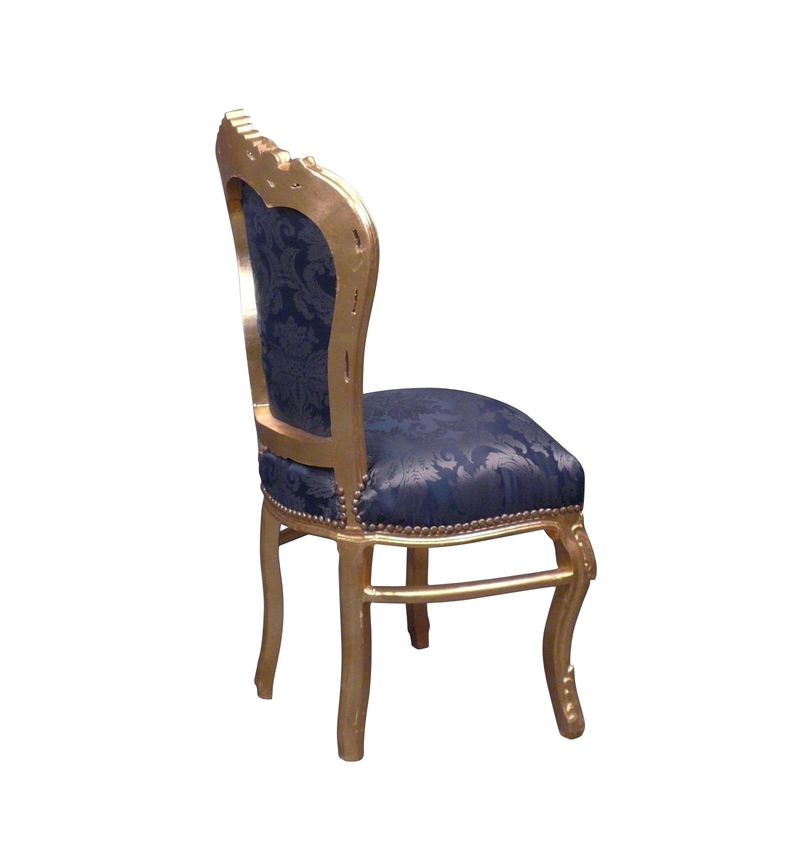 Barock Stuhl In Schwarzem Samt Und Silber Holz Barocke